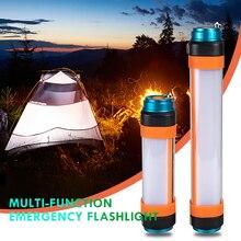 防水ledポータブル懐中電灯多機能usb充電式磁気懐中電灯テントライト屋外キャンプライト