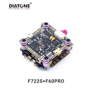 Diatone MAMBA F7 controlador de vuelo pila F722S 60A 3-6S 32Bit 60A CES 6S 4 en 1 Dshot1200 sin escobillas ESC con Bluetooth/LED