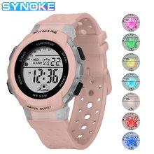 Часы наручные synoke для девочек цифровые спортивные цветные