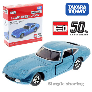 Takara Tomy Tomica 50th Anniversary Collection 05 Toyota 2000GT Blue Scale 1/59 Car Kids Toys Motor Vehicle Diecast Model image