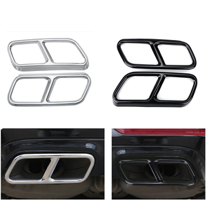 Image 1 - Yubao Pair Black / Silver Rear Dual Exhaust Pipe Sticks Covers For Mercedes for Benz S class W221 W222 C217 A217 W251 GL X166
