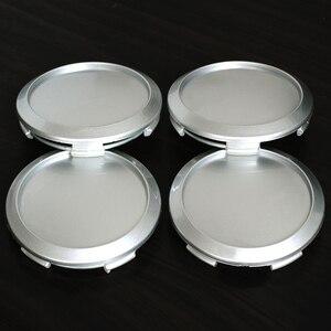 Image 5 - 4pcs 64MM(60mm) fit 52mm Logo Car Wheel Center Hub Caps Dust Cover Car Badge Rear Emblem 64mm Auto Rim Wheel Hub Car Part