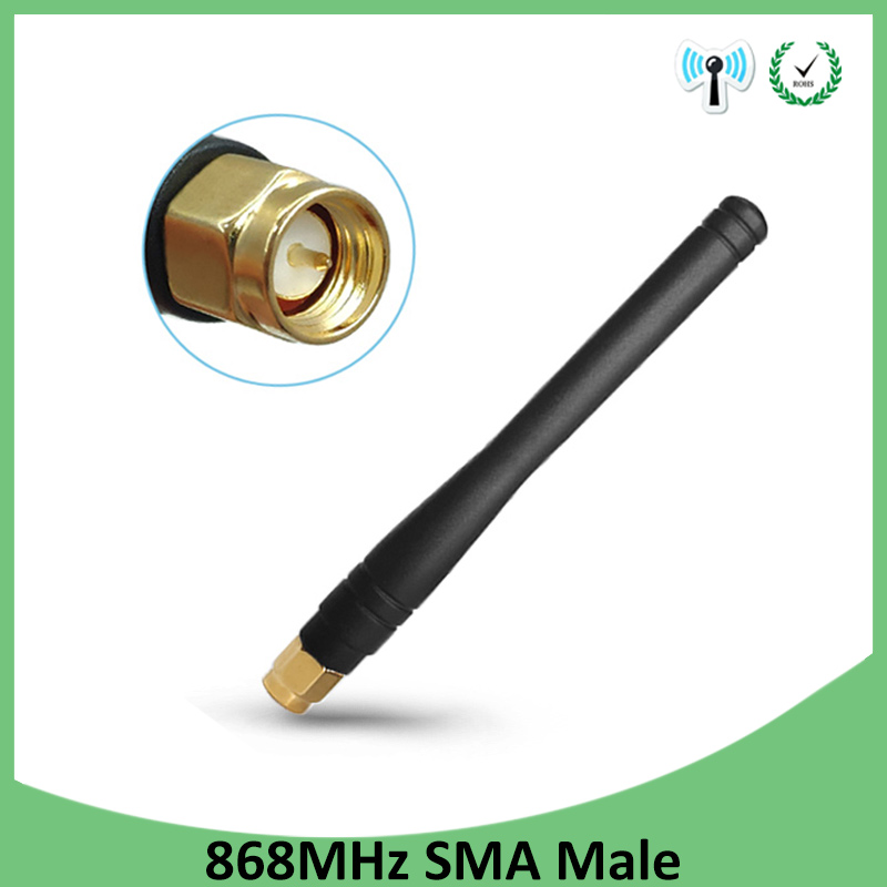 5pcs <font><b>868MHz</b></font> <font><b>915MHz</b></font> <font><b>Antenna</b></font> 3dbi SMA Male Connector GSM 915 MHz 868 MHz antena outdoor signal repeater antenne waterproof Lorawan image