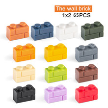1x2 moc o tijolo de parede 65 pces mix cor diy clássico educação declive blocos de construção compatível com monta partículas