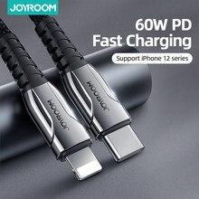 Joyroom 60W PD USB Typ C Kabel für iPhone 12 11 Pro Xs Max Schnelle Lade Ladegerät für MacBook iPad Typ-C USBC Daten Draht Kabel
