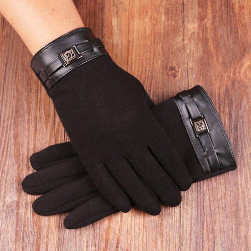 New Autumn And Winter Outdoor Riding Gloves Mens Plus Velvet Warm Touch Screen Does Not Fall Velvet Gloves