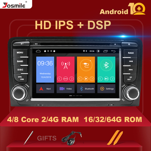 IPS DSP 4GB 2din Android 10 Car Radio DVD Player For Audi A3 8P S3 2003-2012 RS3 Sportback Multimedia Navigation stereohead unit(China)