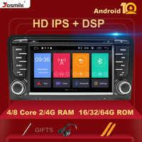IPS DSP 4GB 2din Android 10 Radio del coche reproductor de DVD para Audi A3 8P S3 2003-2012 RS3 Sportback de navegación Multimedia stereohead unidad