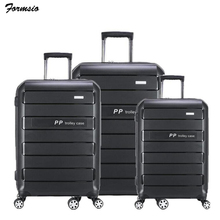 "TRAVEL TALE 20""24""28"" inch PP trolley suitcase set expandable hard trunks set rolling luggage set 3 pieces"