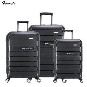 """Image 1 - TRAVEL TALE Juego de maletas de PP con ruedas, conjunto de bañadores duros expandibles de 20 """", 24"""" y 28 """", 3 piezas"""