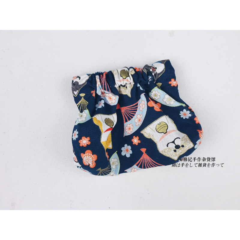! Vintage Hand Made Japanese-style Coins Cotton Remember Purse Frame Mini Purse And Wind Bag Wallet Hipster Japanese Style