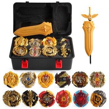 Gold Edition 17 Stück Burst Spinner Spielzeug Sets Toolbox Montage Beyblade Spinner KINDER Spielzeug Lagerung Box