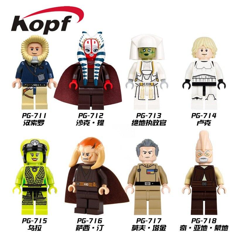 Building Blocks Space Oola Shaak Ti Jedi Consular Han Solo Luke Skywalker Grand Moff Tarkin Bricks For Children Toys PG8051