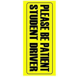 Image 3 - 車のステッカー警告ステッカーが患者学生ドライバデカール 10*23 センチメートル