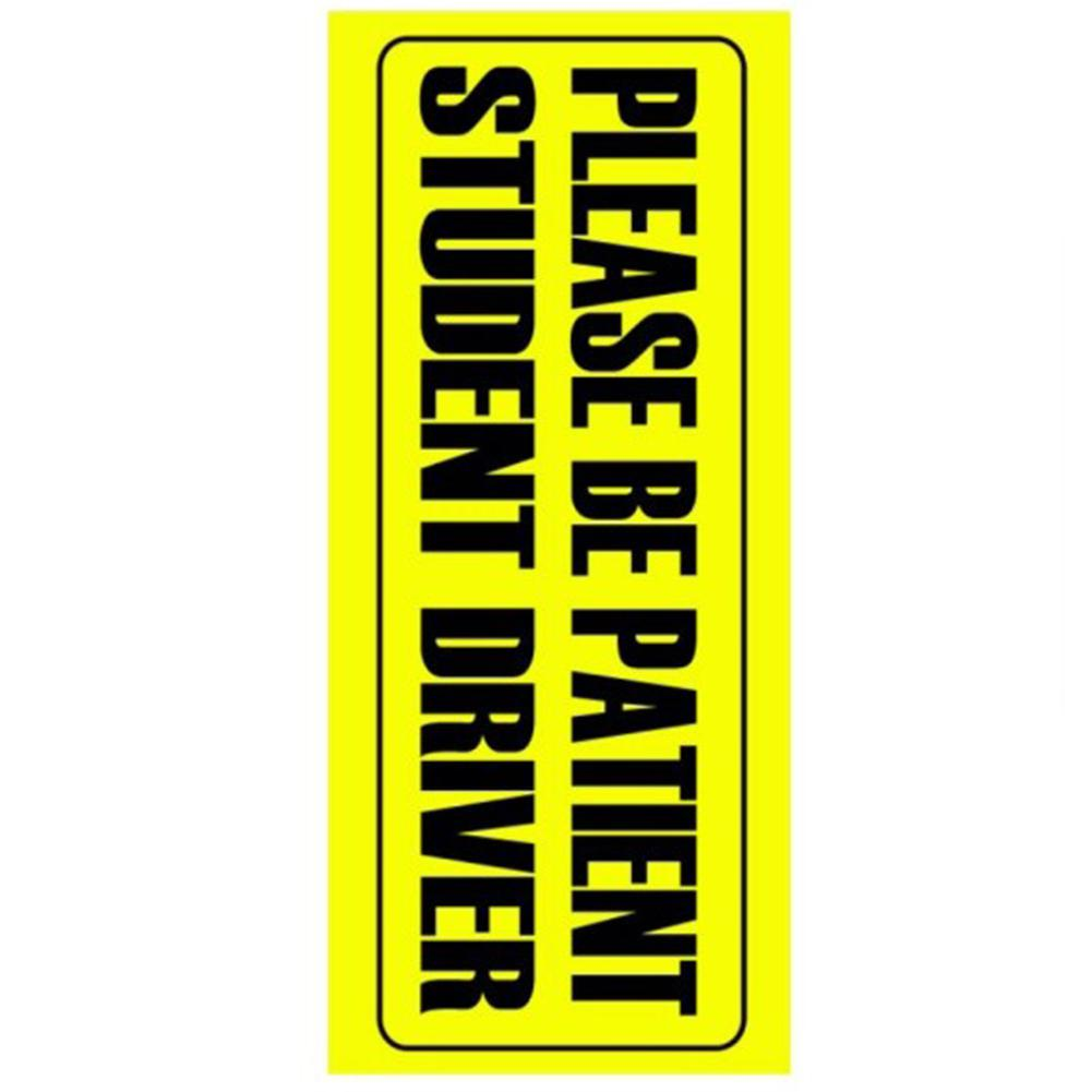 Image 3 - Car Sticker Warning Sticker BE PATIENT STUDENT DRIVER DECAL 10*23cm-in Car Stickers from Automobiles & Motorcycles
