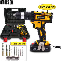 New Design 21V 45N.m Multi function Cordless Screwdriver Rechargeable Electric Screw Drill Mini Hand Drill Power Tools