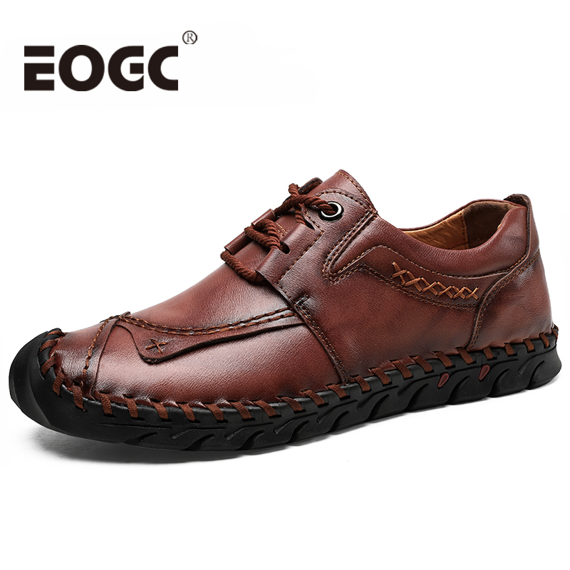 Cow Leather Shoes Men Handmade Men Shoes Leather Size 48 Casual Shoes Loafers Lace-up Moccasins Men Leather Shoes Zapatos Hombre