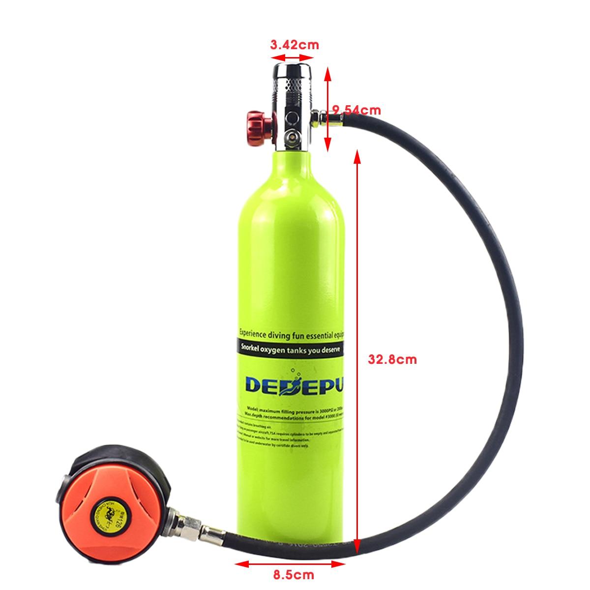 Equipo de Buceo 1L, cilindro de buceo, tanque de oxígeno, respirador, adaptador de repuesto, bomba de alta presión, accesorios de respiración de buceo - 4