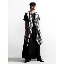 Skirt Pants Thin Men's Fashion Perform M-4XL Nightclub Loose Spring And Autumn Trendy