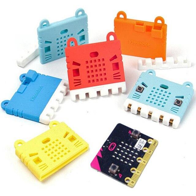 Elecrow bbc micro: bit placa de programação diy módulo makecode com kittenbot microbit capa protetora silicone colorido escudo