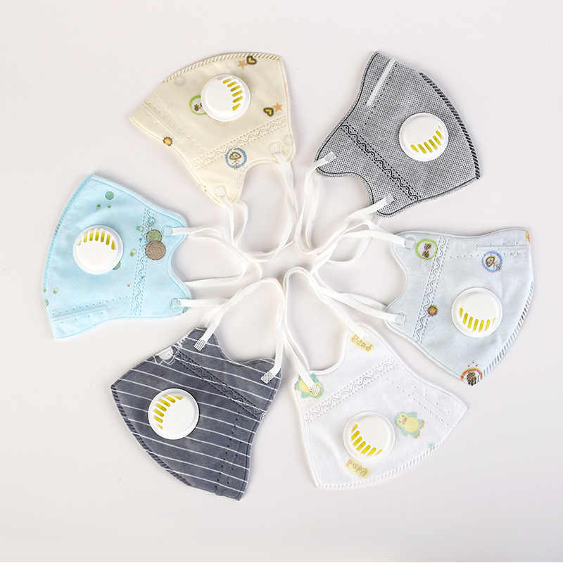 PM2.5 Anti Influenza Respirator Mask  Vertical Folding Nonwoven Fabric Mask FOR CHILDREN With Dust Valve Mouth Mask