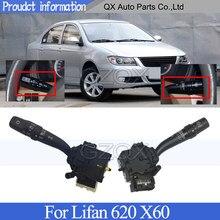 CAPQX reflektor przełącznik do wycieraczek dla Lifan 620 X60 wycieraczka szyby przedniej wycieraczki włącznik światła przeciwmgielnego włącznik do kierunkowskazów przycisk