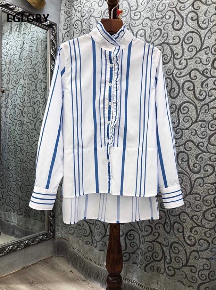 Высококачественные дизайнерские рубашки 2020 осенне зимние блузки
