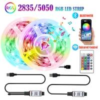 2835 5050 LED Licht Streifen Bluetooth APP Control RGB 5V USB Infrarot Flexible Dekoration Hintergrundbeleuchtung Lampe Leucht String Für TV