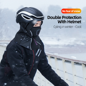 Image 3 - ROCKBROS Winter Cycling Mask Fleece Thermal Keep Warm Windproof Cycling Face Mask Balaclava Ski Mask Fishing Skiing Hat Headwear