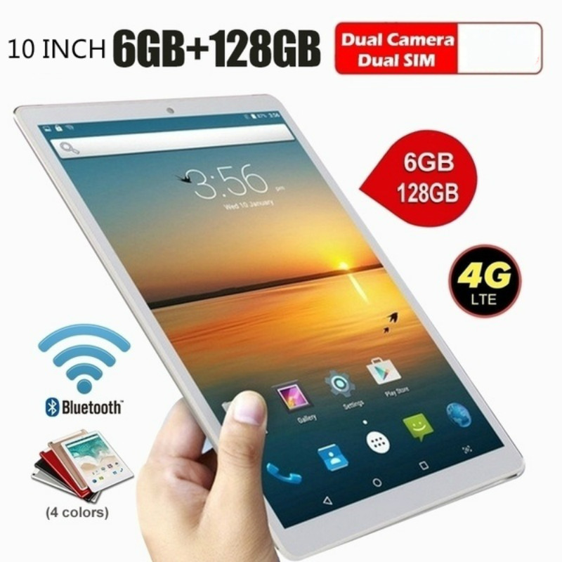 2020 New Arrival 6G+128GB  WiFi Tablet PC 1280*800 IPS Screen  Android 8.0 10 Inch Tablet Pc With 128G Hardware Memory