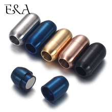 2-4Pcs Stainless Steel 3mm-8mm Magnetic Clasps Leather Cord Bracelet Magnet Lace Buckle Necklace DIY Jewelry Making Accessories
