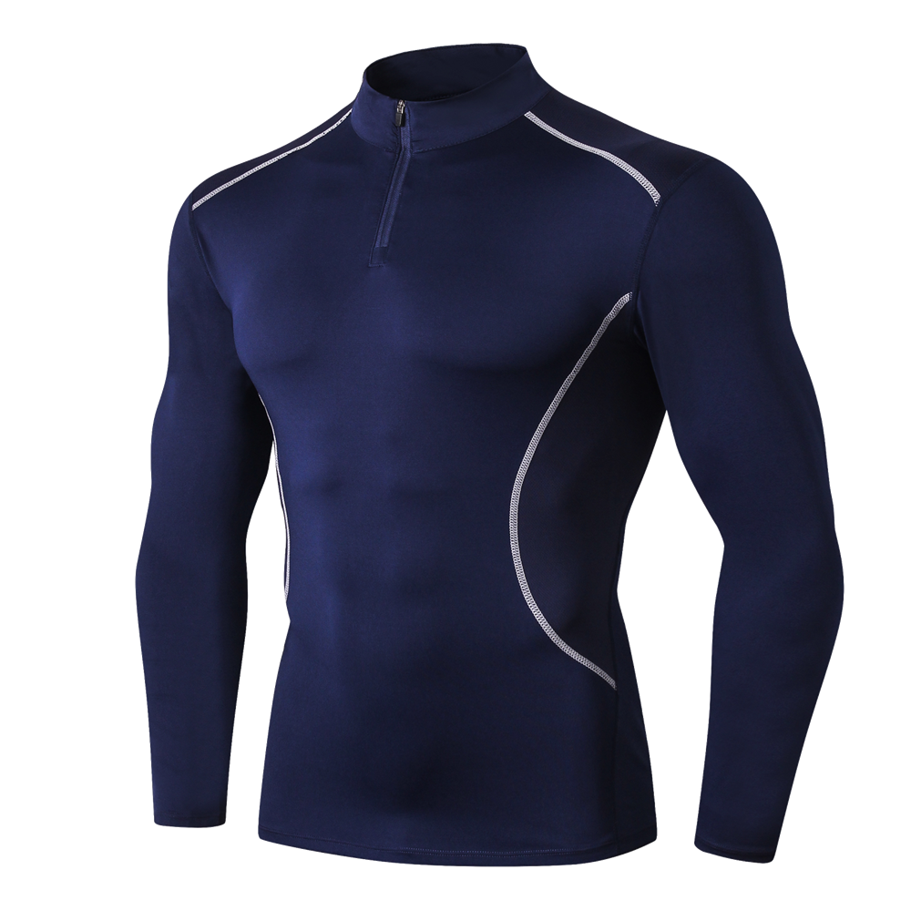 2020 New Autumn Running Hoodies Men Long Sleeve Sweatshirts Sports T-Shirts High Elastic Stand Collar Zipper Jackets EU Size XXL