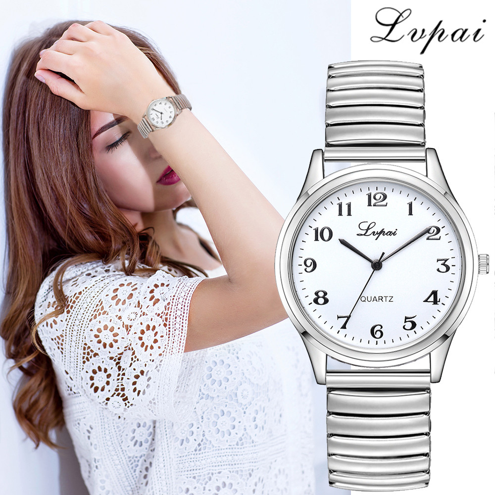 Watches Luxury Brand Lvpai Women's Watch Quartz Dress Steel Watch Bracelet Clock Gift Elastic Telescopic Strap Ladies Watch *A
