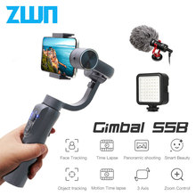 ZWN S5B Upgraded Version 3 Axis Handheld Gimbal Stabilizer w/Focus Pull & Zoom for iPhone Xs Xr X 8 Plus 7 Samsung Action Camera