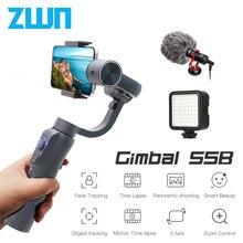 ZWN S5B Verbesserte Version 3 Achse Handheld Gimbal Stabilisator w/Focus Pull & Zoom für iPhone Xs Xr X 8 Plus 7 Samsung Action Kamera