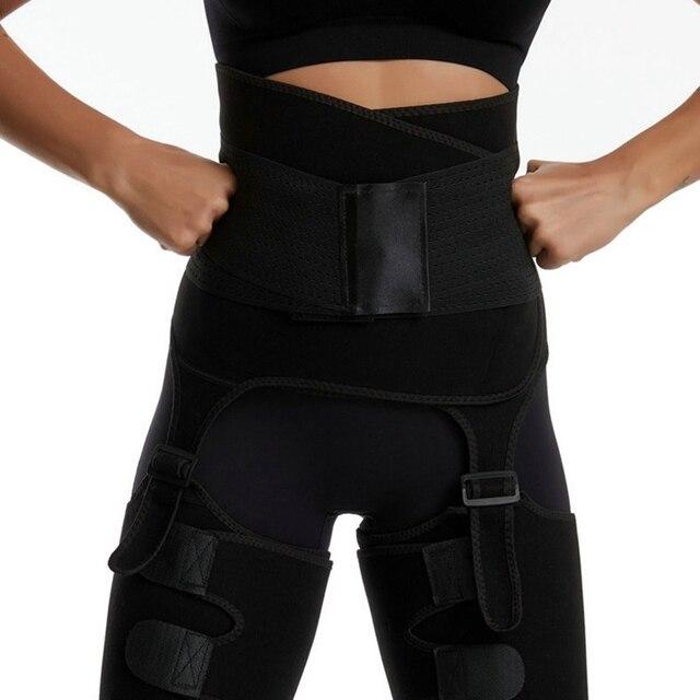 Neoprene Leg Shapers Sauna Thigh Trimmer Slimmer Body Shaper High Waist Trainer Sweat Shapewear Belt Control Panties