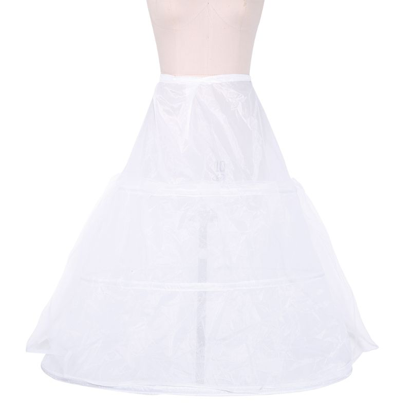 Petticoat Ball-Gown Underskirt Wedding-Dress Bridal 3-Hoops Bustle Womens Waistband Drawstring