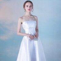 2020 New Elegant Banquet Evening Dress Short Dress Was Thin Graduation Gown Tube Top Dresses