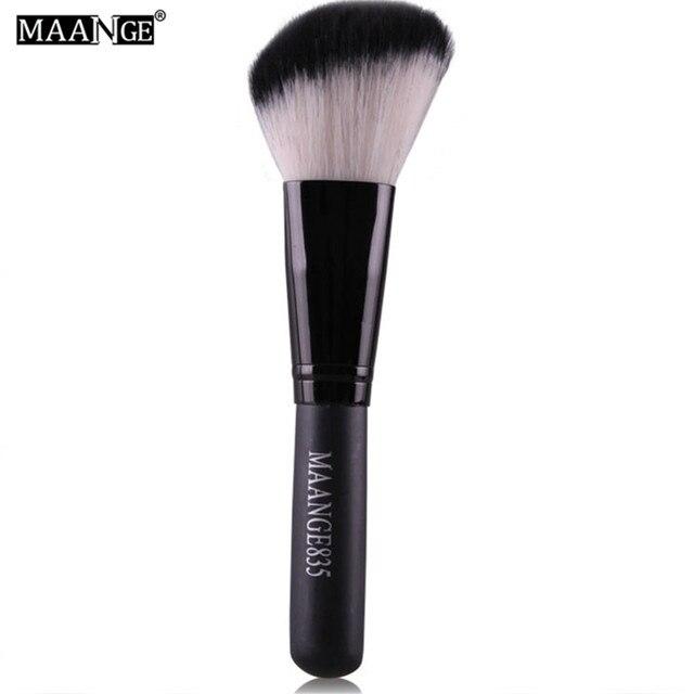MAANGE 1Pcs Round Angled Top Makeup Brush Power Foundation Blush Concealer Contour Blending Highlight Cheek Brush Beauty Tool 3