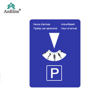 Veículo carro de estacionamento disco temporizador relógio chegada tempo display plástico disco ferramentas tempo estacionamento portátil temporizador