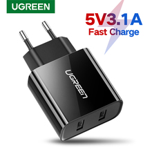 Ugreen Usb Charger Voor Iphone 8X7 6 Ipad 5V3. 1A Smart Usb Wall Charger Voor Samsung Galaxy S9 Lg G5 Dual Mobiele Telefoon Oplader
