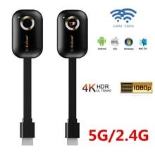 محول لاسلكي للتلفزيون ، 2.4/5G 4K ، دونجل عرض Wifi ، Mirascreen Mirror ، Miracast ، Airplay ، جهاز استقبال DLNA لجهاز العرض HDTV
