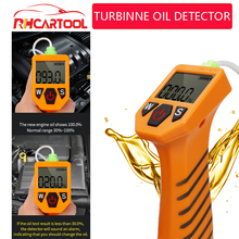 Obd2 ferramenta de diagnóstico do carro motor testador óleo para verificação automática qualidade do óleo detector com display led analisador gás ferramentas teste carro