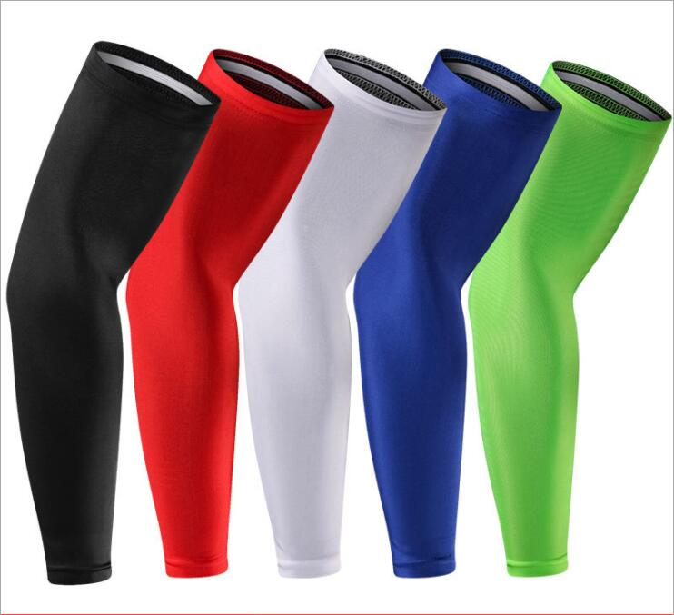 A Lycra Fitness Basketball Kneecap Cycling Running Sun Protection Quick-drying Elastic Compression Leg Protection