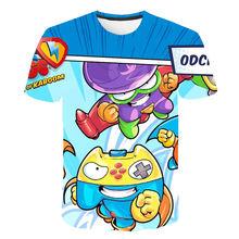 New Harajuku Style Classic Superzings Game 3D Print T shirt Boys Girls Interesting Children Clothing Kids Casual Clothing