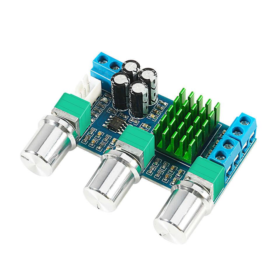 Aokin TPA3116D2 DC 12V 24V 80W x 2 podwójny kanał dźwięk cyfrowy TPA3116D2 regulacja tonów wysokich Preset płyta wzmacniacza wstępnego