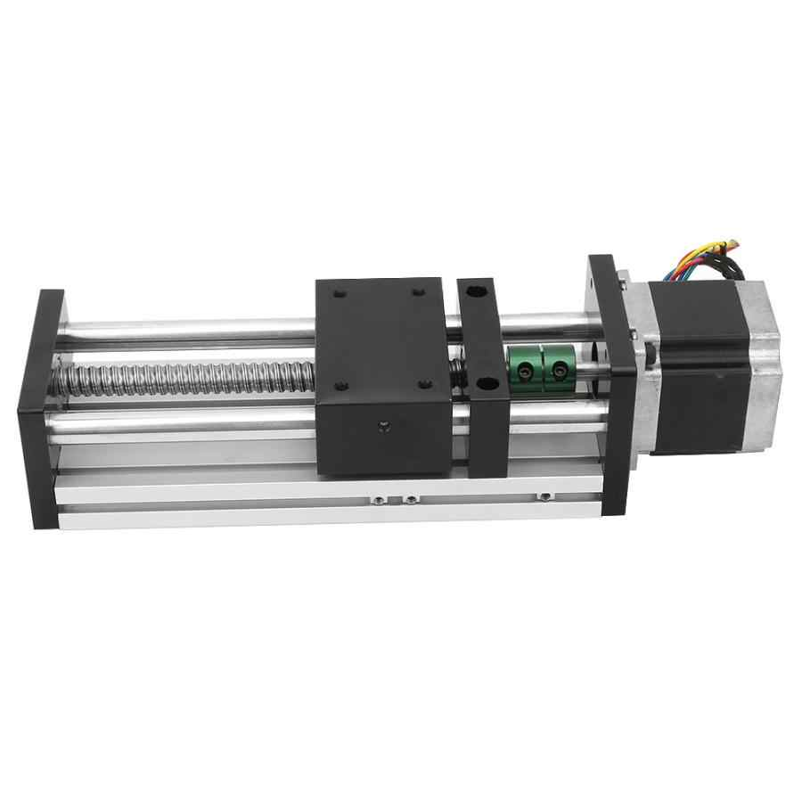 100mm Effective Travel 1605 Ball Screw Guide Rail Sliding Table + Nema23 57 Stepper Motor Linear Motion System Linear Guide Rail
