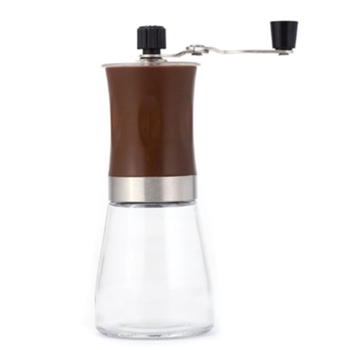 Portable Manual Spice/Pepper/ Nuts/Coffee Bean Grinder with Stainless Steel Glass Washable Burr Coffee Milller image