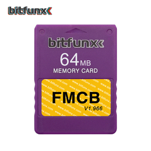 Image 4 - Bitfunx 64メガバイトのメモリカードPS2 fmcb送料mcboot opl保存ゲームPlaystation2レトロビデオゲームコンソール紫、青マルチカラー