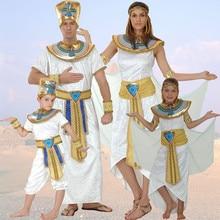 Umorden Adult Kids Egypt Nile Pharaoh Cleopatra Costume for Women Men Boys Girls Family Halloween New Year Party Fancy Dress